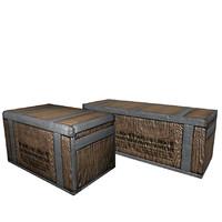 wooden cargo 3d model