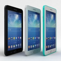 Samsung Galaxy Tab 3 Lite 7.0 Black-White-Green