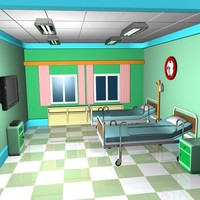 Cartoon Emergency Room Interior