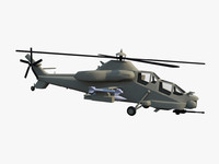 denel chs-2 rooivalk attack 3d model