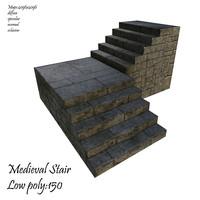 medieval stair 3d max