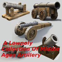Low Poly Middle Ages Artillery Collection