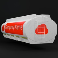 3d gasoline tanker uv-unwrapped model