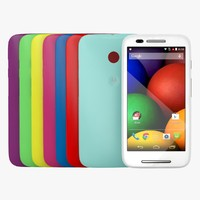 motorola moto e colour 3d model
