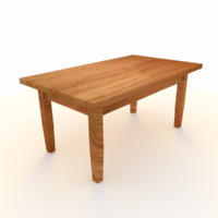 3d model table wooden
