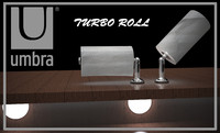 umbra paper towel holder 3d model
