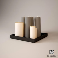3d model eichholtz candles modern