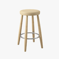 stool hans j wegner 3d model