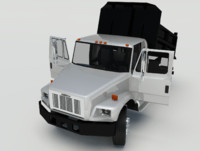 3d model freightliner fl 70 rigged