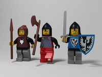 Medieval lego characters