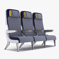 3d model of economy airplane seat