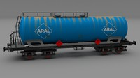 3d model tanker train car aral