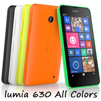 nokia lumia 630 colors 3d model