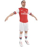 3d soccer player arsenal model