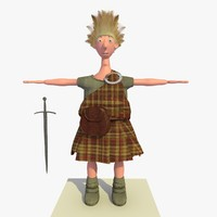 roland medieval cartoon warrior 3d model