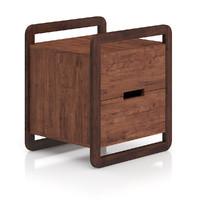 modern wooden bedside cabinet 3d ma