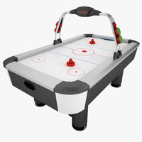 3d model air hockey