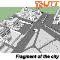 3d fragment city model