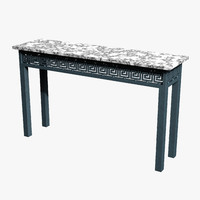 antique console marble iron c4d