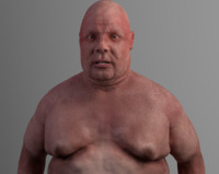 3d model of hyper realistic man character