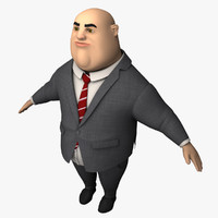 3d model evil business man