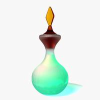 3d perfume bottle model