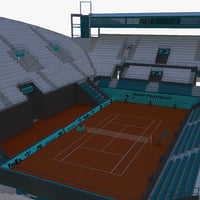 3d model suzanne lenglen court