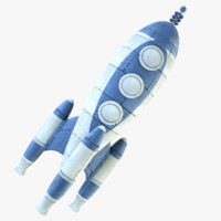 rocket retro 3d c4d