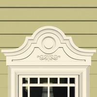 3d window header model