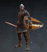 medieval soldier 3d model