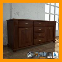3d model classic cabinet 01