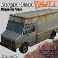 3d morgan olson rust livery model