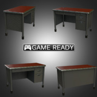 real-time teacher desk 3d model
