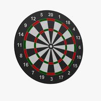 3d dart target model