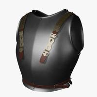 3d model breastplate cuirasier