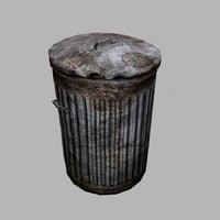 3ds max dustbin trashcan