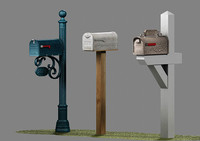 US Mailboxes Pack - Low Poly