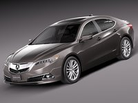 3d model of acura tlx 2015