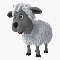 cartoon sheep rigged 3d max