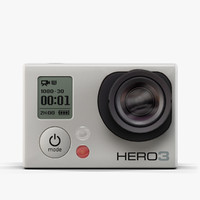 3d model low-poly gopro hero3 camera