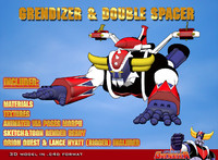 3d model double spacer grendizer