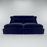 3d model love seat felt