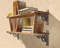 3d c4d old bookshelf book