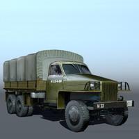 3d u6 furgon military truck