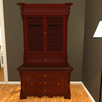 decorative victorian secretary desk 3d model