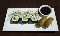 Avacado Sushi with Salmon