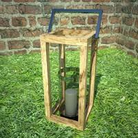 3d candle lantern model