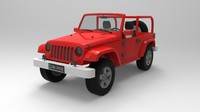 wrangler rubicon 3d model