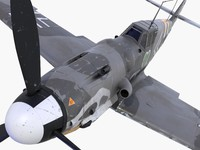 3d bf-109 german fighter model
