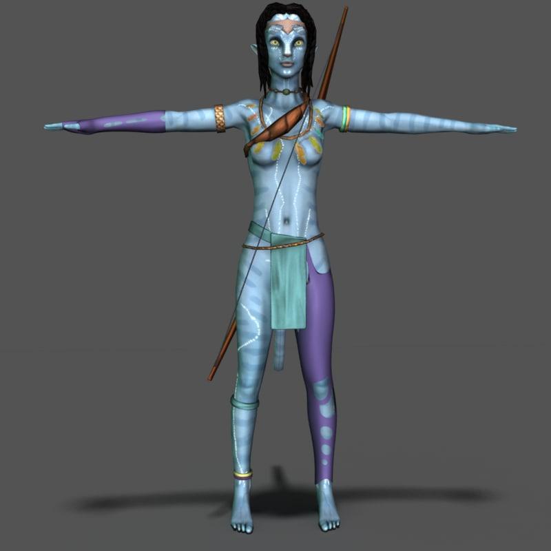 Real Avatar Girl: 3d Na Vi Model